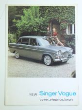 SINGER VOGUE 1963 16 page fold-out brochure